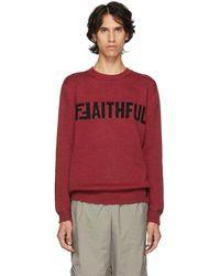 Fendi - Red Ffaithful Sweater - Lyst