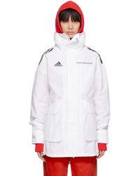 Gosha Rubchinskiy - White Adidas Originals Edition Hardshell Coat - Lyst