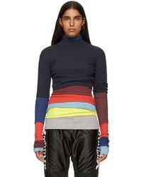 Y. Project - Navy Rainbow Turtleneck - Lyst