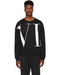 Valentino - Logo Printed Cotton Blend Jumper - Lyst
