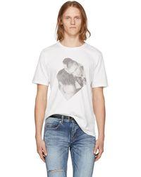Saint Laurent - White Campaign Photo T-shirt - Lyst
