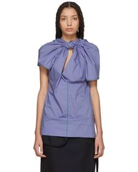 Marni - Blue Twist Blouse - Lyst