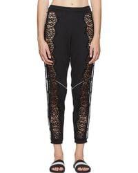 Stella McCartney - Black Adidas Edition Lace Lounge Trousers - Lyst