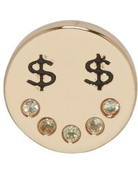 Marc Jacobs - Gold Dollar Eye Earring - Lyst
