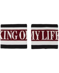 Dolce & Gabbana - Red And Black King Of My Life Cuffs - Lyst