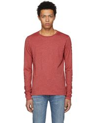 Burberry - Red Marchston Burnout T-shirt - Lyst