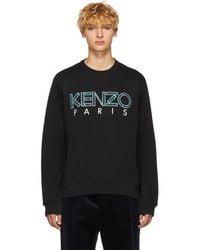 KENZO - Black Logo Sweatshirt - Lyst