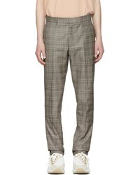 Rag & Bone | Black And Ivory Check Patrick Trousers | Lyst