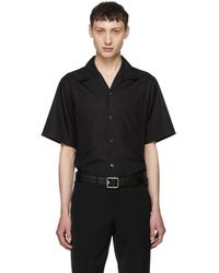 Prada - Black Short Sleeve Poplin Shirt - Lyst