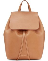Mansur Gavriel - Tan Leather Mini Backpack - Lyst