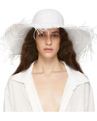 Jacquemus - White Le Chapeau Riviera Beach Hat - Lyst