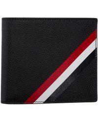 Thom Browne - Black Diagonal Stripe Wallet - Lyst