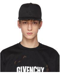 Givenchy   Black Three-star Logo Cap   Lyst