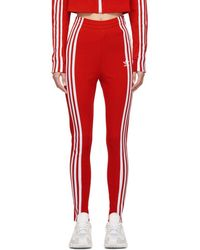 adidas Originals - Red Slim Track Pants - Lyst