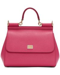 Dolce & Gabbana - Sicily Vitello Stampa Mini Dauphine Shocking Rose - Lyst