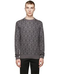 Christopher Kane - Grey Mohair 3d Cube Sweater - Lyst