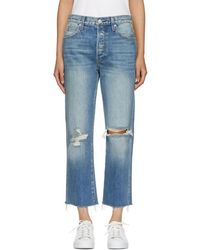 AMO - Blue High-rise Loverboy Jeans - Lyst