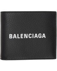 Balenciaga - Black Everyday Logo Square Wallet - Lyst
