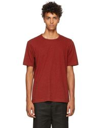 Ziggy Chen - Red Back Band T-shirt - Lyst