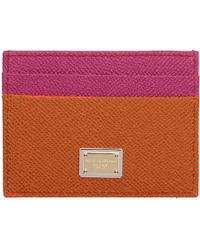 Dolce & Gabbana - Orange And Pink Heart Card Holder - Lyst