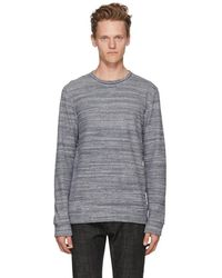 A.P.C. - Navy And White Max Sweatshirt - Lyst