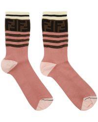 Fendi - Pink Ff Band Socks - Lyst