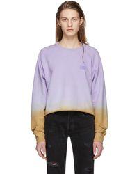 Baja East - Purple Tie-dye Cropped Raglan Crewneck Sweatshirt - Lyst