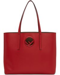 Fendi | Red Circle F Shopping Tote | Lyst
