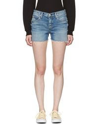 AMO - Blue Denim Tomboy Shorts - Lyst