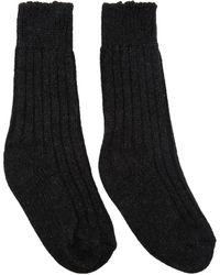 The Elder Statesman | Grey Cashmere Yosemite Socks | Lyst