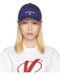 Vetements - Blue Haute Couture Logo Baseball Cap - Lyst