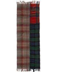 Comme des Garçons - Multicolor Wool Tartan Mix Scarf - Lyst