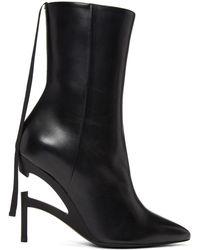 Unravel - Black Broken Heel Boots - Lyst