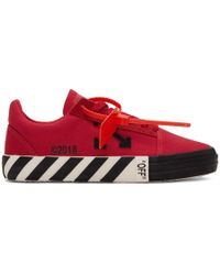 Off-White c/o Virgil Abloh - Red Striped Vulcanized Trainers - Lyst