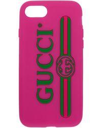 Gucci - Pink Vintage Logo Iphone 7 Case - Lyst