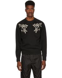 DSquared² - Black Embroidered Sweatshirt - Lyst