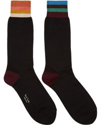 Paul Smith - Black Artist Stripe Socks - Lyst