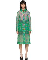 Christopher Kane - Green Archive Floral Long Raincoat - Lyst