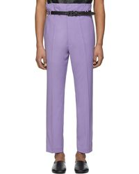 Haider Ackermann - Purple Selenite Double-waisted Trousers - Lyst