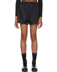 Prada - Black Nylon Sporty Shorts - Lyst