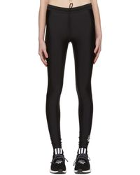 Y-3 - Black Stretch Leggings - Lyst