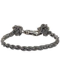 Emanuele Bicocchi - Silver Braided Knots Bracelet - Lyst
