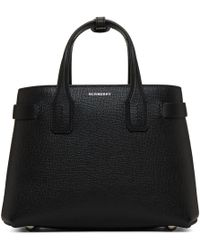 Burberry - Black Small Banner Structured Tote - Lyst