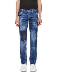 DSquared² - Blue Dark Vicious Slim Jeans - Lyst