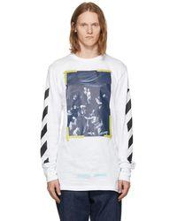 Off-White c/o Virgil Abloh - White Long Sleeve Diagonal Caravaggio T-shirt - Lyst