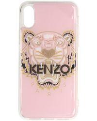 KENZO - Etui pour iPhone X/XS rose et brun Tiger - Lyst