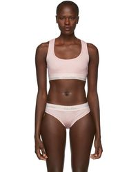 Calvin Klein - Pink Cotton Modern Bralette - Lyst