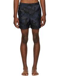 Valentino - Navy Camo Swim Shorts - Lyst