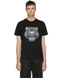 KENZO - Black Tiger T-shirt - Lyst