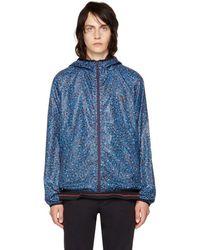 PS by Paul Smith - Blue Multidot Hooded Jacket - Lyst